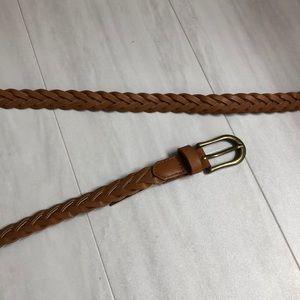 Forever 21 brown braided belt, skinny width